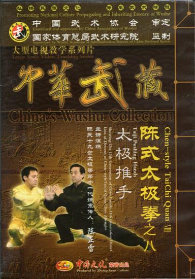 Picture of Taiji Pushing Hands with Grandmaster Chen Zhenglei & Master Chen Bin.